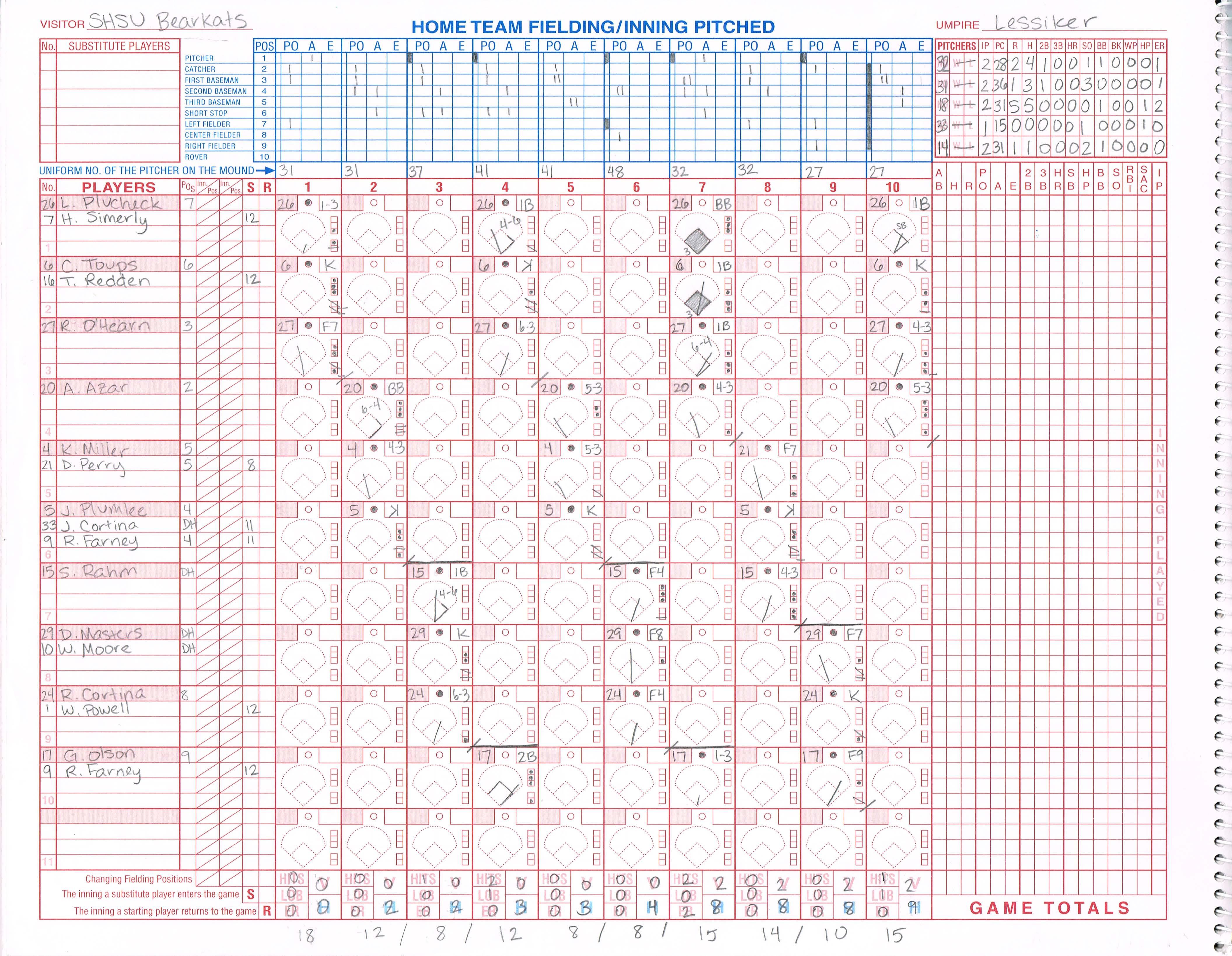 Printable Scorebooks For Baseball Free Printable Baseball
